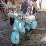 Photo d'un scooter traditionnel italien